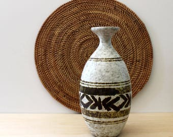 1970s Pottery Craft rustic stoneware vase.
