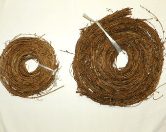 90 Feet of Natural Grapevine ROPE Garland, 6 Rolls of 15 Feet