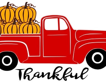 Thanksgiving Pumpkin Truck-SVG Cut File for use with Silhouette Studio Design Edition,Cricut Design Space and others