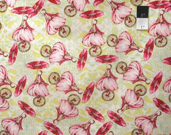 Tina Givens PWTG153 Riddles & Rhymes Unicycle Play Strawberry Fabric By Yd
