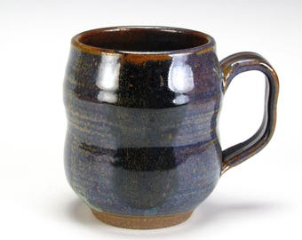 Dark Blue Brown Double  Bubble Cup
