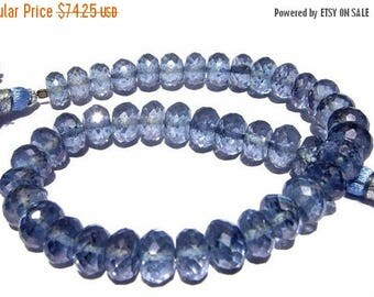 50% Off Sale 8 Inches - Finest Quality Blue Mystic Quartz Micro Faceted Rondelles Size 7 - 7.5mm Stunning Quality Great Price