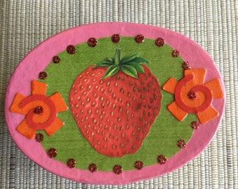 Decoupage Strawberry Gift Box