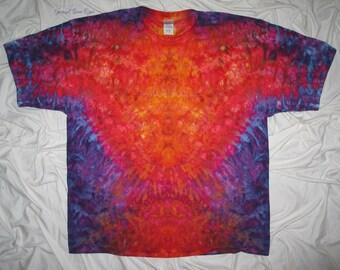 tie dye, 3xl ice dye, inkblot ice dye, gildan ultra cotton tee, tye dye by grateful dan dyes, fire up