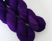 ROYAL PURPLE - Hand Dyed Yarn - Signature Merino Nylon Sock Yarn Fingering - Ready to Ship - Vivid Yarn Studio