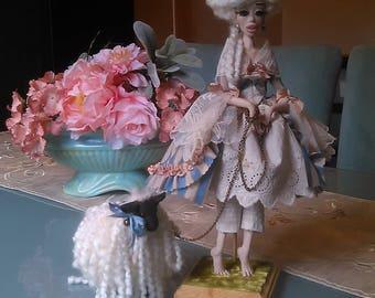 Marie Antoinette Toy Farm Posable Ooak Art Doll by Moninesfaeries