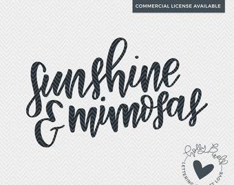 Sunshine and Mimosas | Mimosas SVG | Alcohol SVG | Funny svg | Adult SVG | Holly Pixels | Summer Drinking | Drinking svg