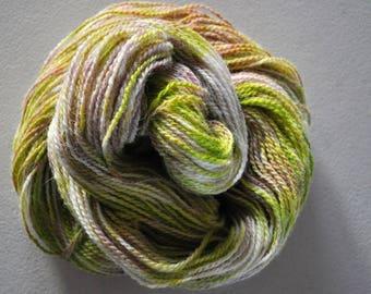 Lichen.  Handpainted Wool Yarn 2 Ply DK weight