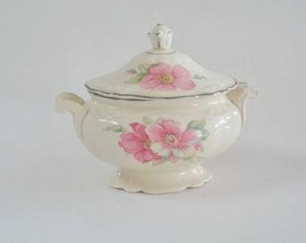 Homer Laughlin Virginia Rose  Sugar Bowl