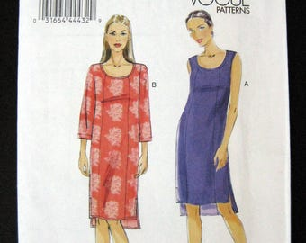 VOGUE V8809 pattern  Misses Petite Dress size 16 to 24 uncut pattern Vogue Very Easy