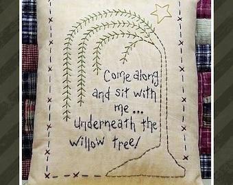 The Willow--Primitive Stitchery E-PATTERN-by Primitive Stitches-Instant Download