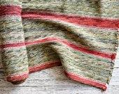 Vintage Runner, Vintage Rug Runner, Antique Rug Runner, Antique Rug, Christmas Decor, Holiday Decor, Striped Rug, Red & Green Striped Rug