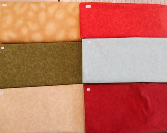 "Quilting filler and background mottled fabrics 100% cotton 1 yd x 44""w FREE SHIP"