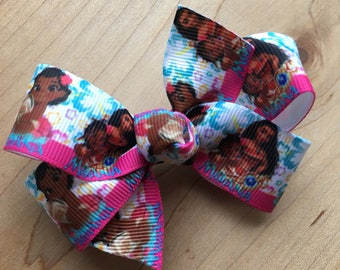 Moana Hair Bow - WHITE, Moana, Moana Party, Moana Birthday, Moana bow, Moana Birthday Party, Moana Party Favor, Moana Loot bags