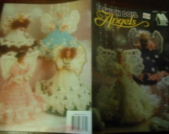Barbie Angel Crocheting Patterns Fashion Doll Angels Annie's Attic 87D74 Crochet Pattern Leaflet