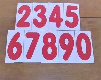17 Vintage Numbers Vintage Cardstock Numbers Number Lot