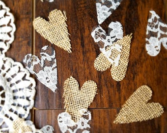 Wedding Table Decorations Centerpiece Rustic Wedding Table Confetti Country Wedding Aisle Runner Idea Burlap Table Runner With Lace Confetti