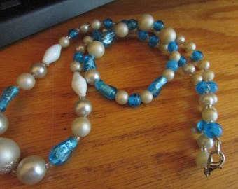 blue glass with pearl