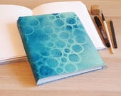 handpainted mid size journal - travel gift under 30 journal by tremundo