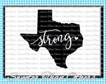 Texas Strong SVG T shirt Design Vinyl  Texas (SVG and DXF Files) Texas Svg, Texas Cut file, Silhouette, Cameo, Cricut, Instant Download
