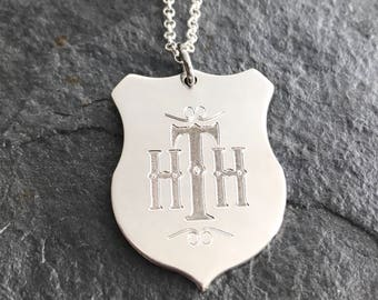 Hollywood Tower Hotel - Sterling Silver - Twilight Zone inspired necklace