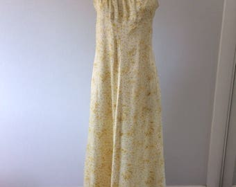 Beautiful Handmade Vintage Silky Satin Maxi Dress