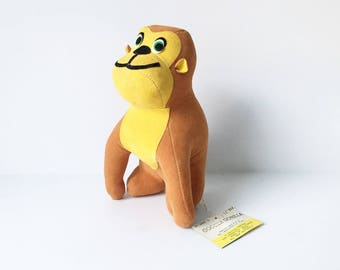 Gorilla Toy Dream Pets Monkey Stuffed Animal 1970s Dakin Velvet Gorilla