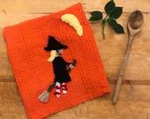 Halloween~Witch~Kitchen Towel~Witch Decor~Halloween Decor~Halloween Gift~Spooky~Funny Halloween~Halloween Gift~October Birthday