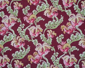 Antique French Art Nouveau fabric