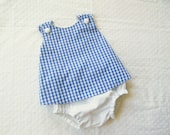 BOYS Cross-Back Pinafore Top Bloomers SET baby or toddler - Your CHOICE of fabric combos - 3 mos to 4 yrs
