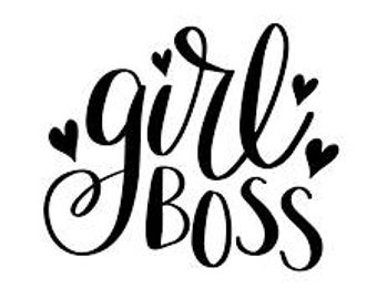 Girl Boss Vinyl Car Decal Bumper Window Sticker Any Color Multiple Sizes Mothers Day Jenuine Crafts