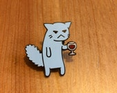 Flimsy Kitten '1000% Done With This' enamel pin.