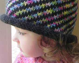 Kaleidoscope Hat Knitting Pattern PDF