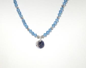 Swarovski Crystal Birthstone / Zodiac Necklace - All signs & birthstones available - Shown with Pisces