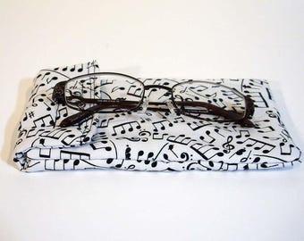 Gadget pouch -  Musical notes cell phone case - Glasses case - Sunglasses case - Music note cell phone case