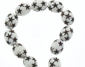 acrylic starburst beads 10mm x 13mm 08744.07