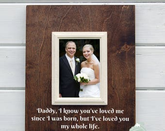 Wedding picture frame - Dad gift, Dad of the bride gift, father/dad of the bride gift, wedding gift, 5x7 frame