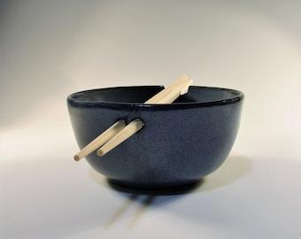 Ceramic Bowl, Noodle Bowl, Rice Bowl, Ramen Bowl, Blue Bowl, Stoneware Bowl, Pottery Bowl, Chopstick Bowl, Soup Bowl, Pho Bowl, Serving Bowl