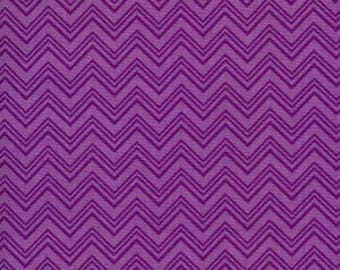 Silly Gilly ZigZag Purple - Henry Glass - Cotton Woven sewing quilting fabric  By The Yard HG-15011