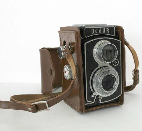 Vintage DeJur TLR Reflex Camera DR10, 1950s Twin Lens Camera