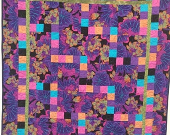 Summer sale Dream in Purple quilted fiber art