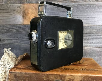 Cine-Kodak Eight MOVIE CAMERA- Model 20- Vintage 8mm Film- Camera Collection Industrial Design- G6
