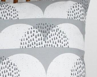 cloud print cushion cover grey white pillow sham