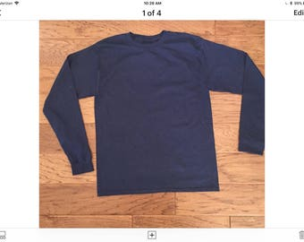 2XL, 3XL Post surgery and Rehab Long sleeve unisex T-shirts,for after shoulder surgery,recovery and Physical Therapy. Navy