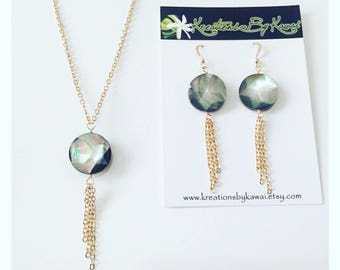 Hiʻilawe Earrings and Necklace Set