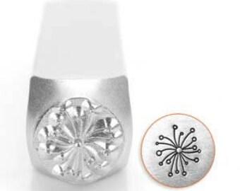 6mm Dandelion ImpressArt Metal Stamps Jewelry Stamps Metal Stamping Impress Art Metal Stamps