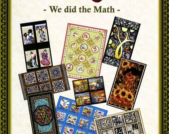 QUILT BOOK,  Panel Quilts Book We Did The Math Quilt Book by Lacey J. Hill L&L Studios Soft Cover Book