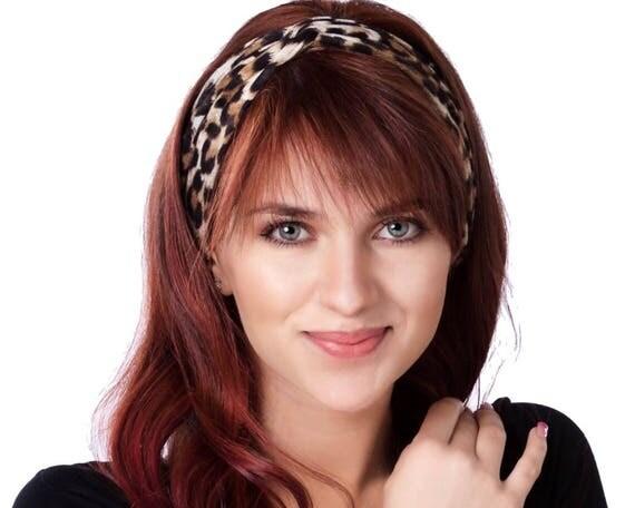 Women's Leopard Headband Turban Animal Print Cheetah Print Yoga Headband Gift For Woman Turban Headband Twist Knot Turban Soft Headband