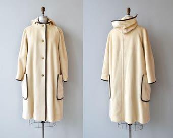 Bonnie Cashin duffle coat | vintage 1970s wool coat | 70s cream wool coat