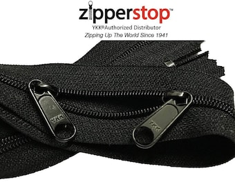 """30"""" YKK Face to Face Handbag  Black Zipper- 100% Made in USA-with 2  Long Pull Silders"""